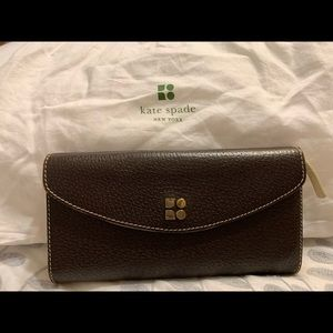 Kate Spade Brown Trifold Continental Wallet